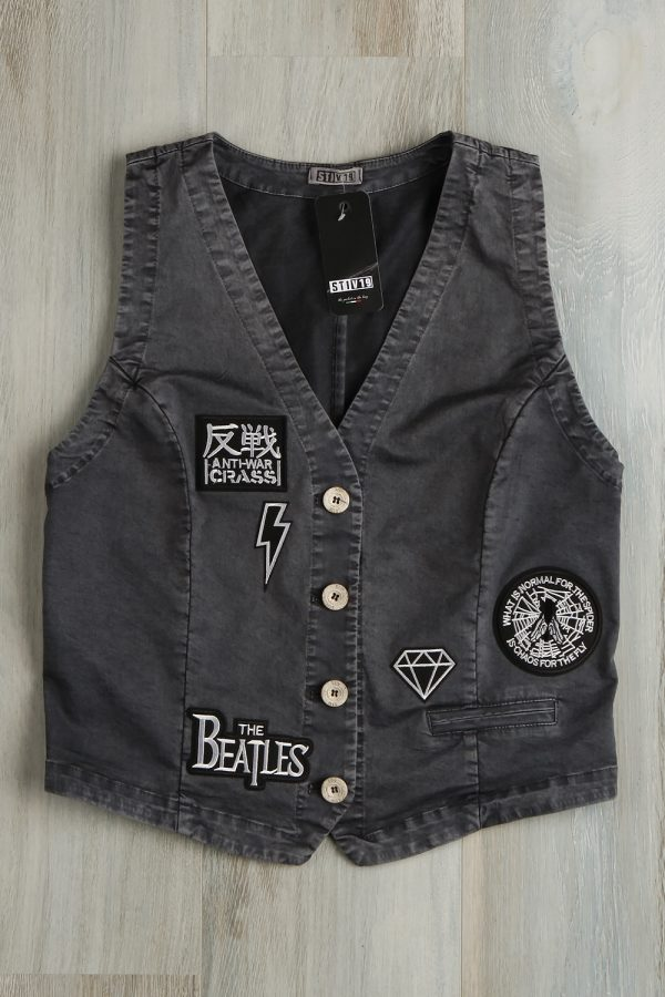 Beatles patch gilet 201 Blue
