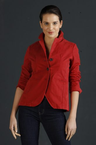 Laser flowers jacket 501 Cherry