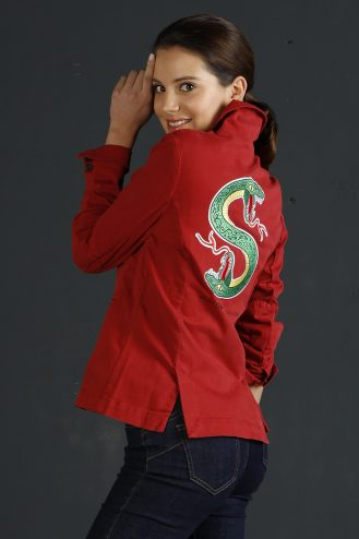 Snake patch jacket 501 Cherry