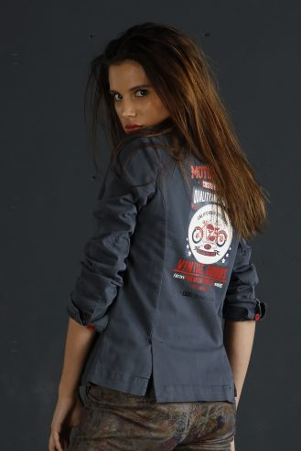 Motorbike patch jacket  501 Denim